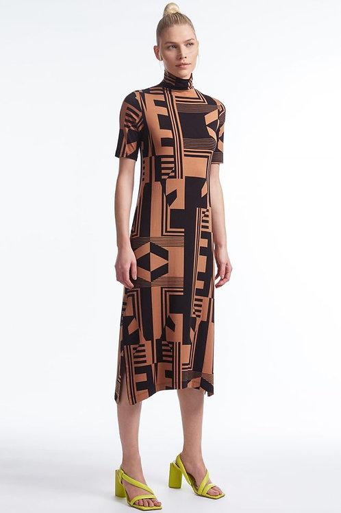 Vestido geometric (ouro)