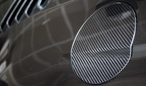 Carbon Fiber Fuel Door Cover for 2015+ Mustang