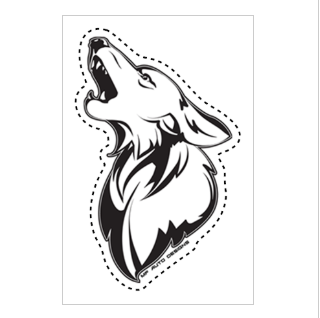 Coyote Decal - Clear Vinyl
