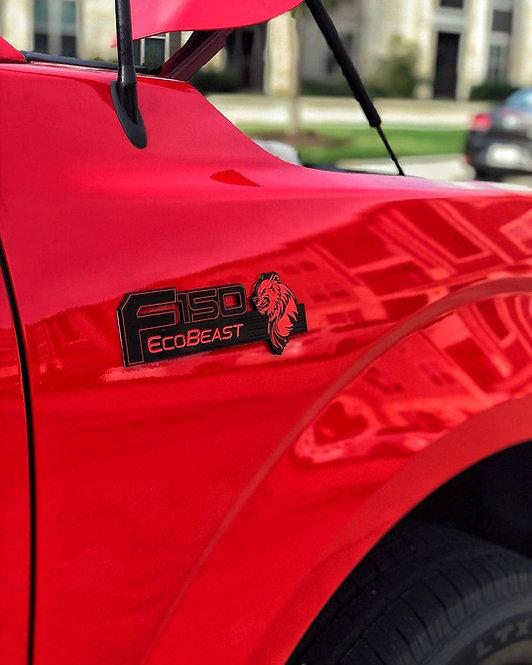 F150 EcoBeast Fender Badges - Pair
