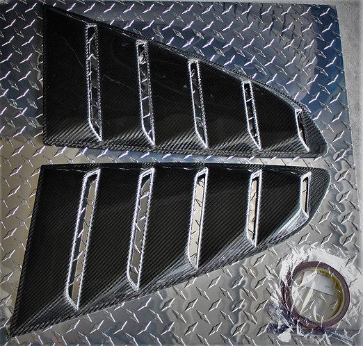 Real Carbon Fiber Side Window Quarter Scoop Louvers