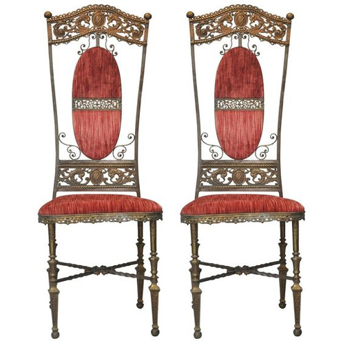 Pair Of French Louis XIV Alter Chairs