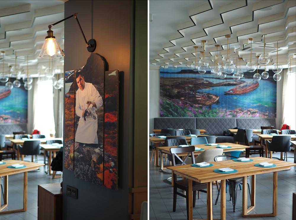 ДК Вкуса. Ресторане Териберка, зона второго этажа.