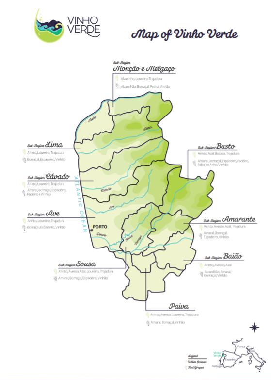 Карта региона Винью Верде