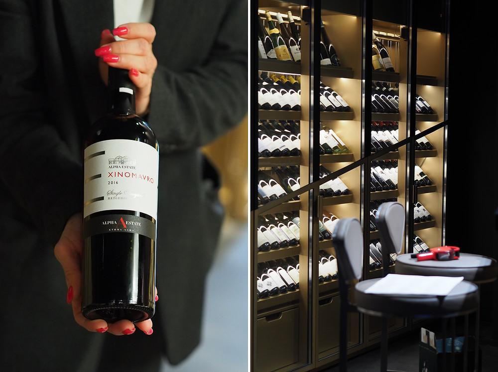 Вино в ресторане Пифагор