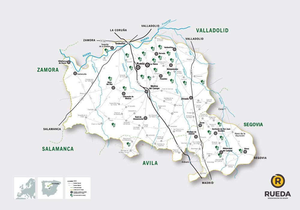 Регион Руэда Карта