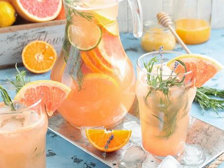 Рецепт цитрусового лимонада с эстрагоном.