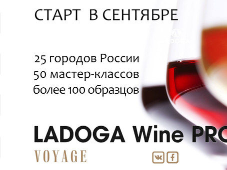 LADOGA Wine Pro отправляется в вояж по городам России!