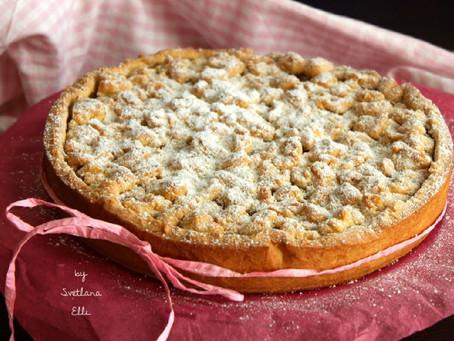 Пирог с карамелизованными яблоками.