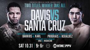 BOXING WELCOMES BACK CROWD WITH DAVIS-SANTA CRUZ PPV