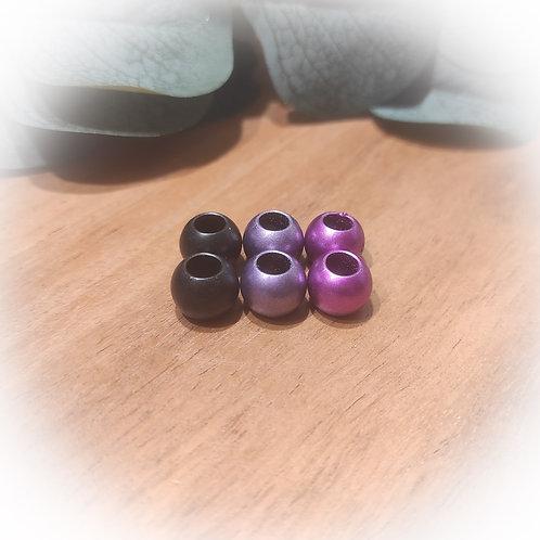 Perlenmix dark pink matt metallic