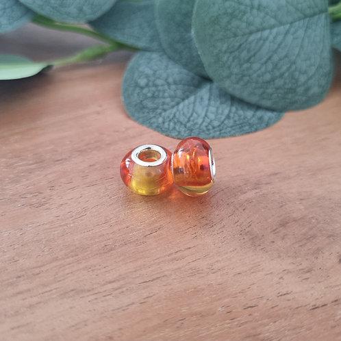 Großlochperlen 14 x 10 mm marigold ombre