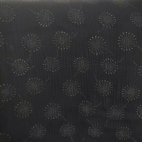 Pusteblumen schwarz/schwarz glänzend