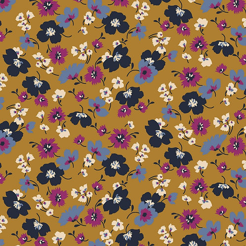 Tencel Modaljersey Wildflowers ochre