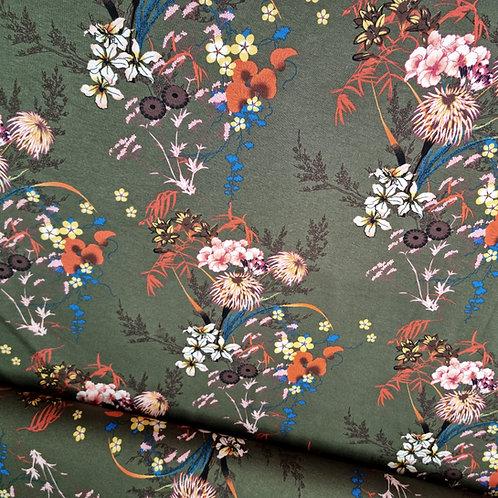 Viskosejersey japanese khaki