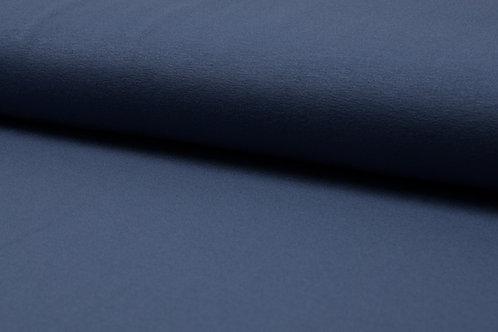 Viskosejersey jeans-grau