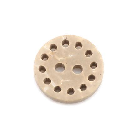 Kokosknopf natur dots 13 mm