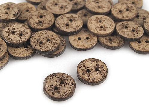 Kokosknopf 15,2 mm
