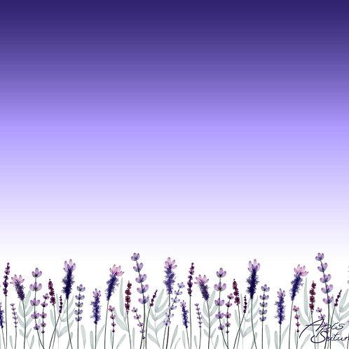 Lavendel Bordüre violett