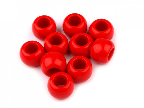 Großlochperlen 11 x 14 mm, rot
