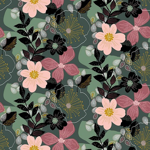 BIO Soft Sweat Floral green