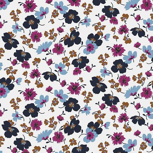 Tencel Modaljersey Wildflowers white