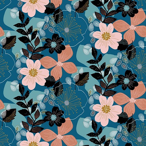 BIO Soft Sweat Floral blue