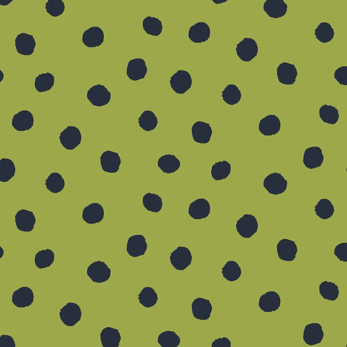 BIO French Terry Dots - lime