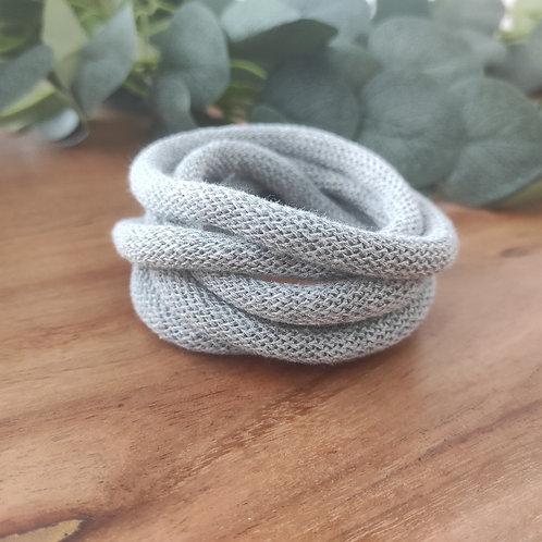 Premiumkordel 9 mm silbergrau