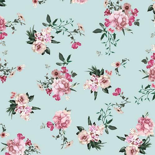 Bio Sweat Lovely Flowers helltürkis