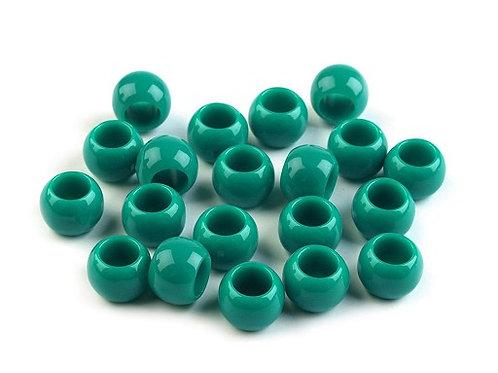 Großlochperlen 7 x 10 mm smaragdgrün