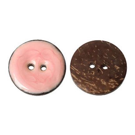 Kokosknopf rosa 25 mm