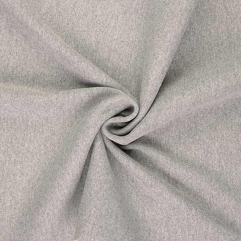 Bündchen Feinstrick melange grau