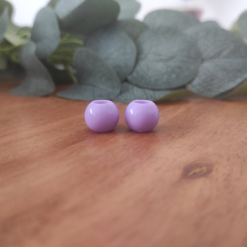 Großlochperlen 14 x 11 mm pastell-lila