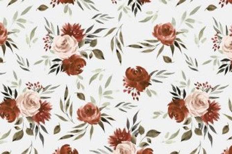 French Terry Aquarell Roses ecru