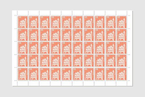 Biel   Sheet of 50   35 RP   Stock: 1 Sheet