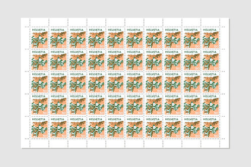 Chalet | Sheet of 50 | 50 RP | Stock: 1 Sheet