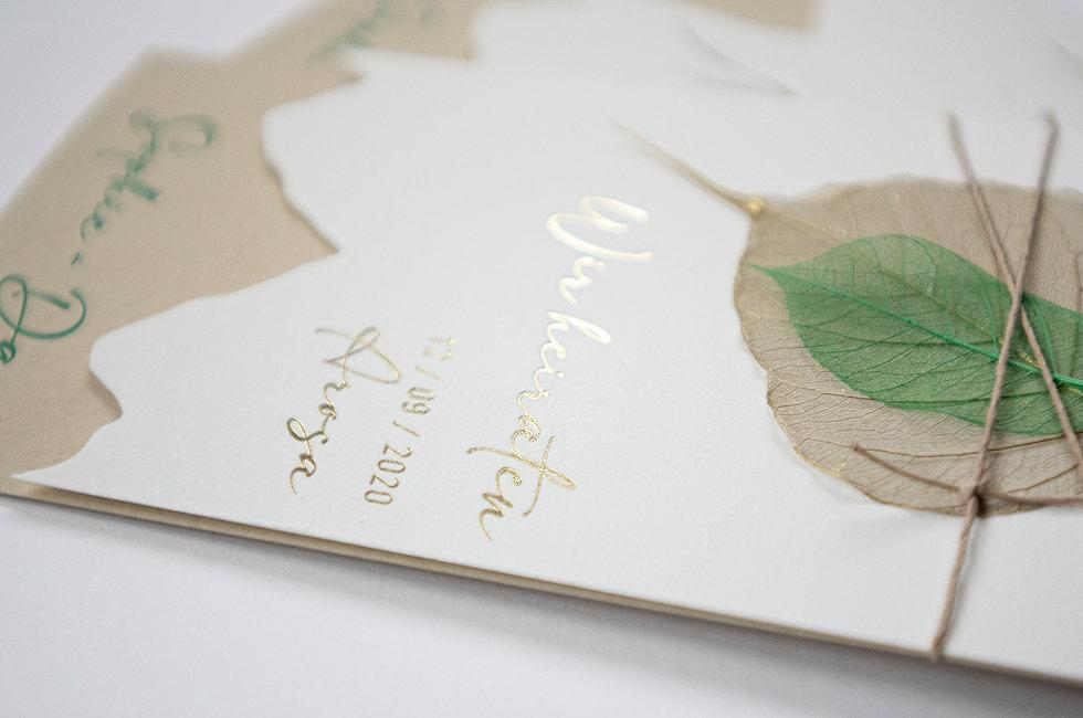 Schweizer Letterpress, von Grafik und Druckatelie Ink on Paper, Hochzeitspapeterie