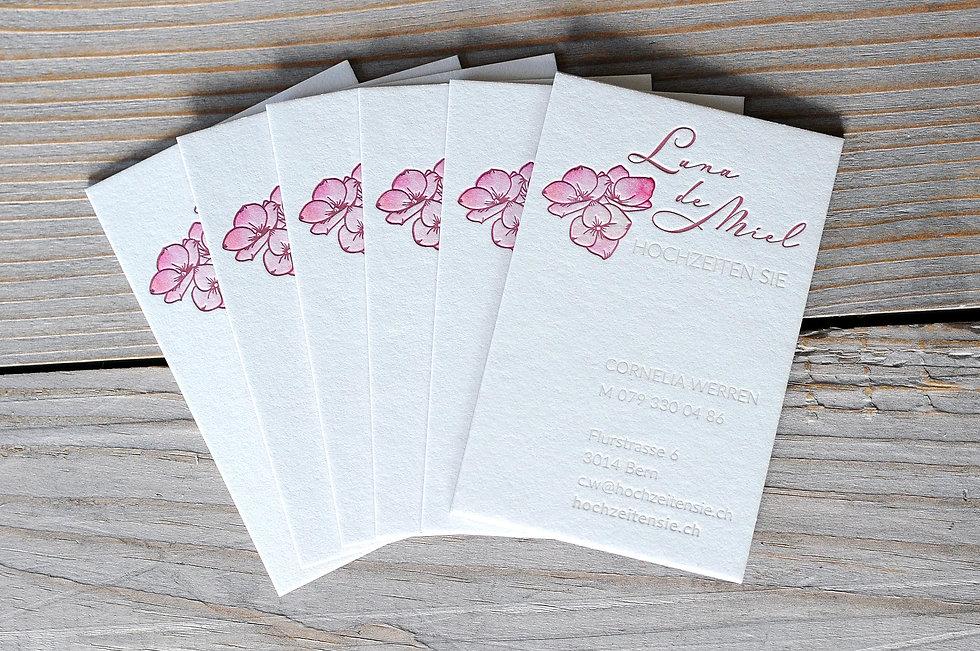 Letterpress Visitenkarten, Gestaltungs- und Druckatelier Ink on Paper, Schweiz, Briefschaftg