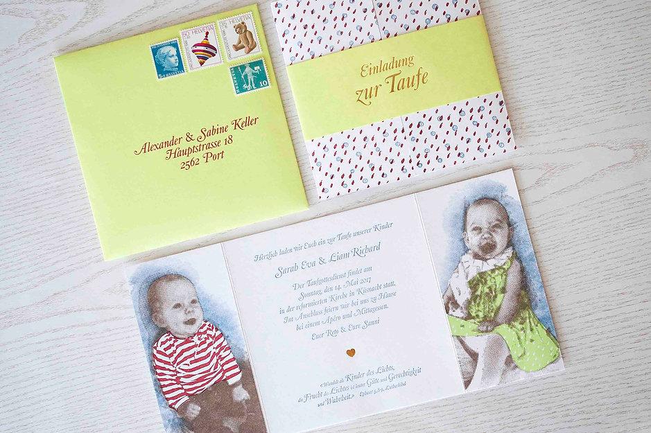 Geburtskarten in Letterpress