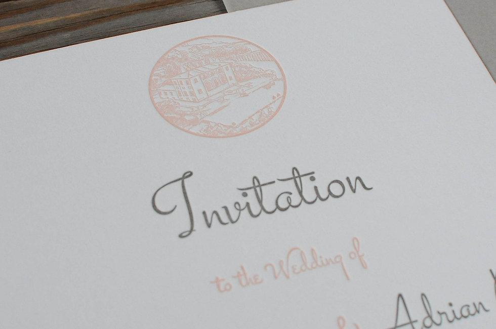 Letterpress Hochzeitskarte, Gestaltungs- und Druckatelier Ink on Paper, Schweiz
