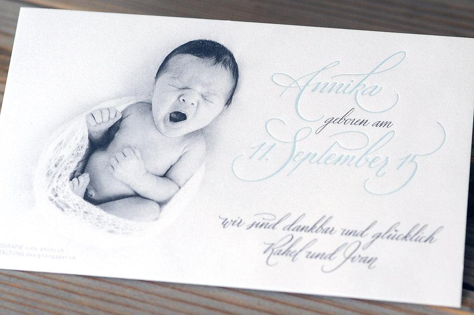 Babykarten in Letterpress