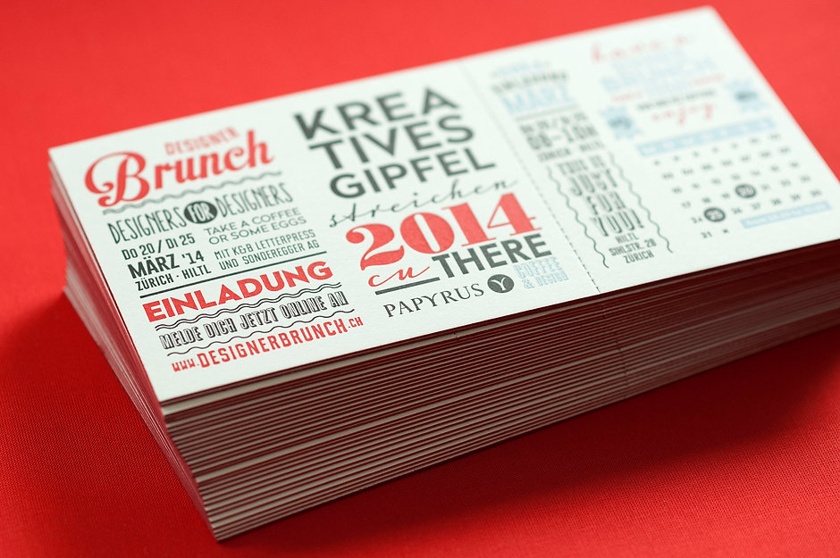 Eventcards in Letterpress