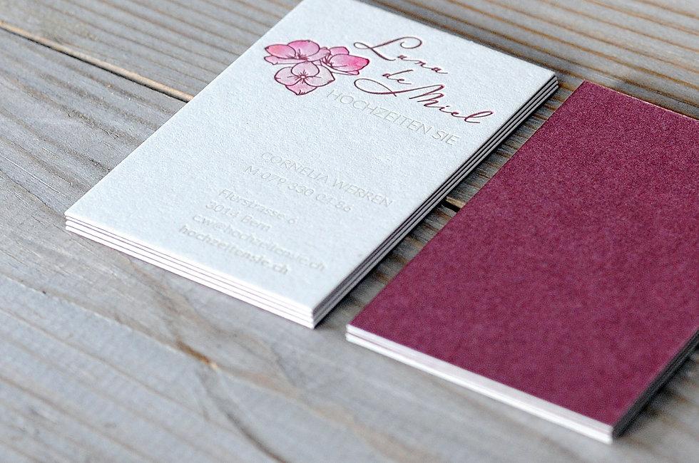 Letterpress Visitenkarten, Gestaltungs- und Druckatelier Ink on Paper, Schweiz, Briefschaft