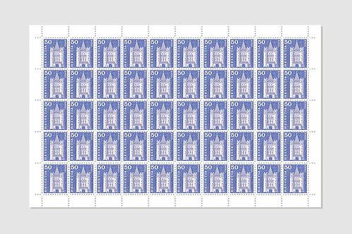 Basel | Sheet of 50 | 50 RP | Stock: 1 Sheet