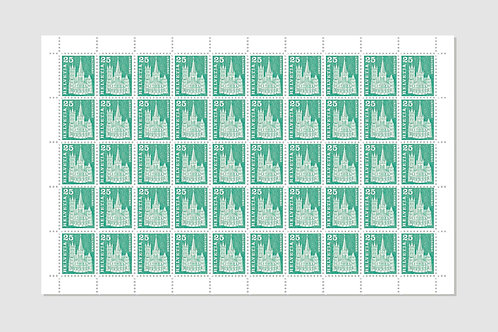Lausanne | Sheet of 50 | 25 RP | Stock: 4 Sheet