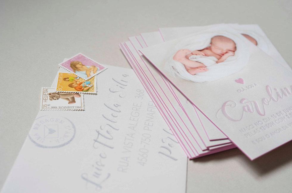 Letterpress Geburtskarte, gestaltungs- und druckatelier ink on paper, schweiz