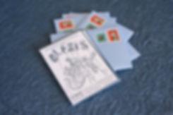 letterpress, ink on paper, geburtstagskarte