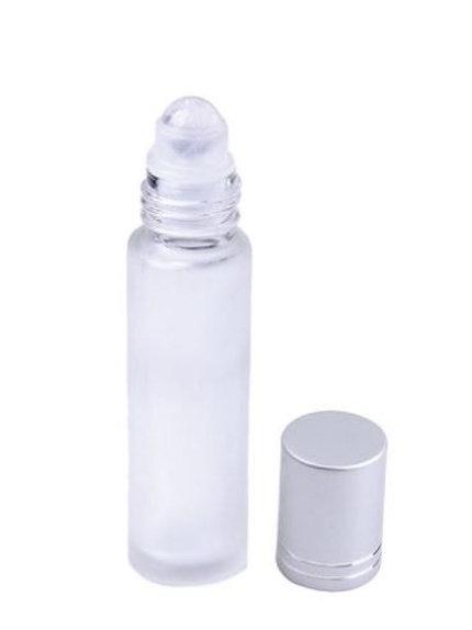 Clear Quartz Essential Oil Roller Bottle