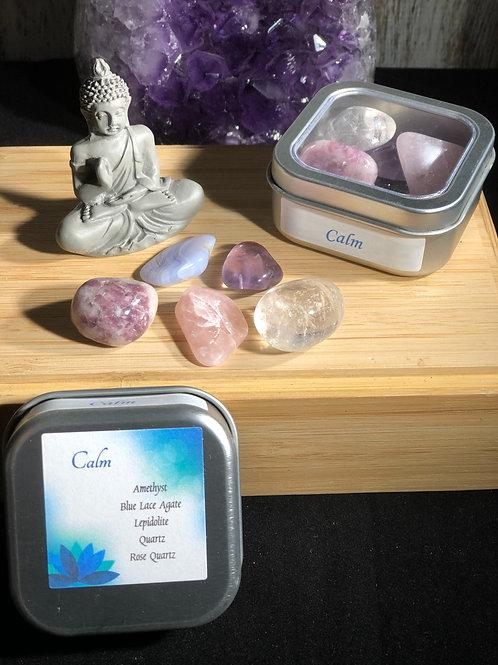 Calming Crystal Healing Tin
